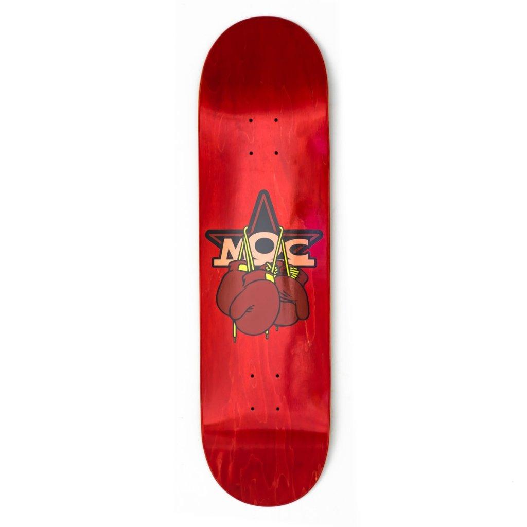 MOC BOXING GLOVES SKATEBOARD DECK RED