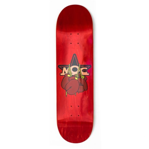 MOC BOXING GLOVES SKATEBOARD DECK RED