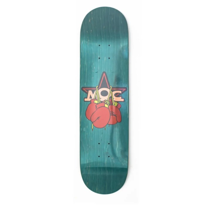 MOC BOXING GLOVES SKATEBOARD DECK TEAL