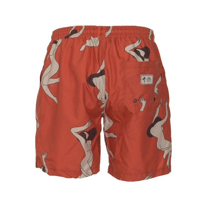 THE DUDES LADIES SWIMSHORTS RED (2)