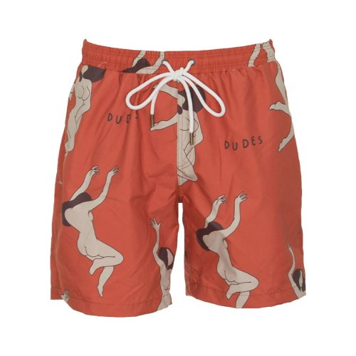 THE DUDES LADIES SWIMSHORTS RED