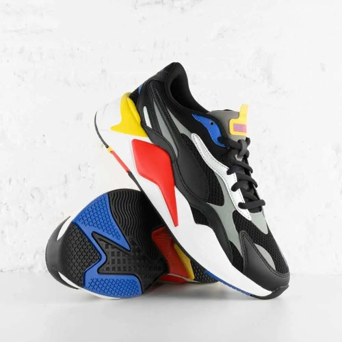 PUMA RS X3 MILLENIUM BLACK HI RISK RED LAPIS BLUE 4