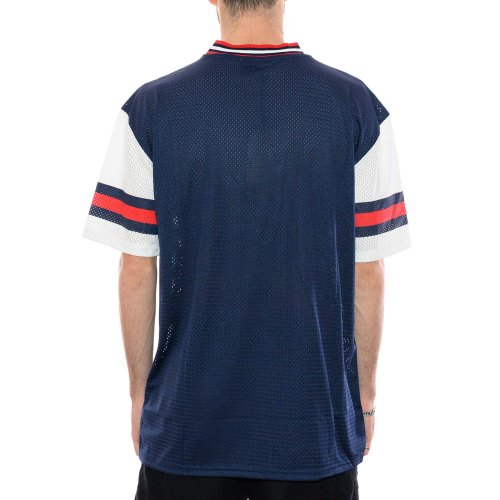 NEW ERA PATRIOTS STRIPE SLEEVE TEE JERSEY BLUE 2