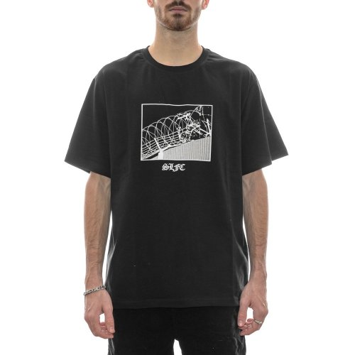 SCREW LOOSE GHOST LINES BLACK TEE