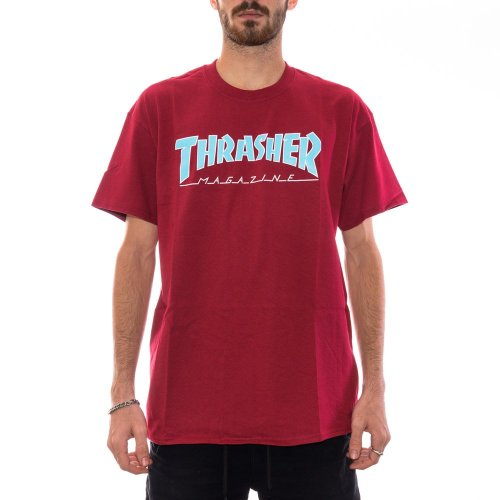 THRASHER OUTLINED TEE CARDINAL