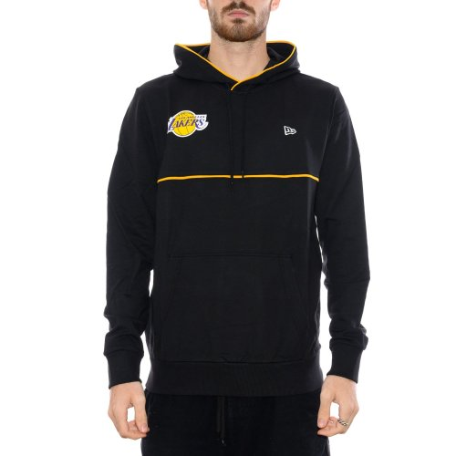 NEW ERA LOS ANGELES LAKER PIPING DETAIL HOODIE BLACK