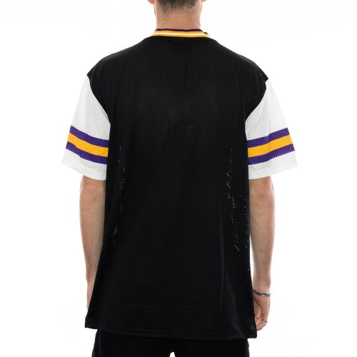 NEW ERA MINNESOTA VIKINGS STRIPE SLEEVE OVERSIZED TEE BLACK 2