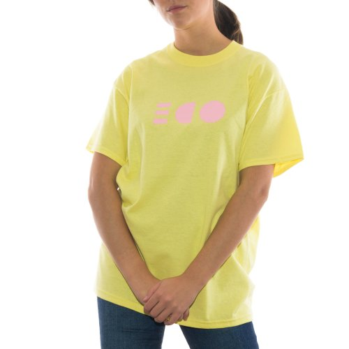 ODE TO SOCKS MIRROR PASTEL TEE YELLOW