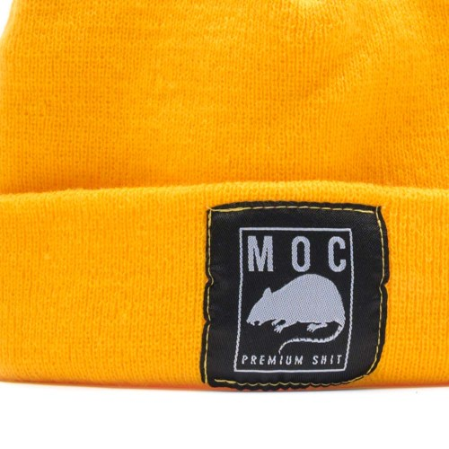 MOC LABEL 1 BEANIE SHORT MUSTARD YELLOW 2