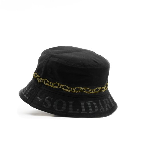 PASS~PORT INTER SOLID REVERSABLE BUCKET HAT BLACK 2