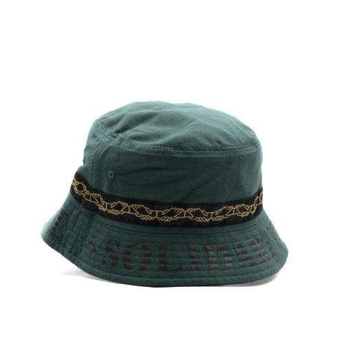 PASS~PORT INTER SOLID REVERSABLE BUCKET HAT GREEN 2