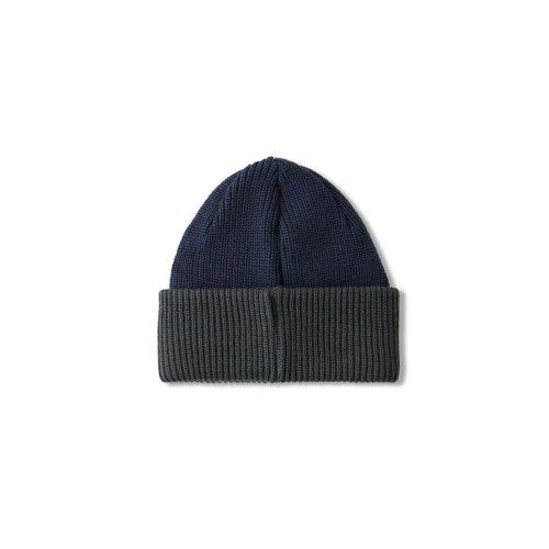 POLAR DOUBLE FOLD MERINO BEANIE NAVY GREY 2