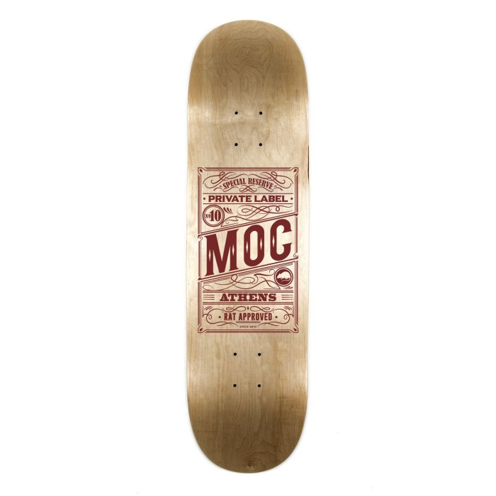 MOC OLD NO. 10 SPECIAL RESERVE SKATEBOARDING DECK LOW CONCAVE BURGUNDY