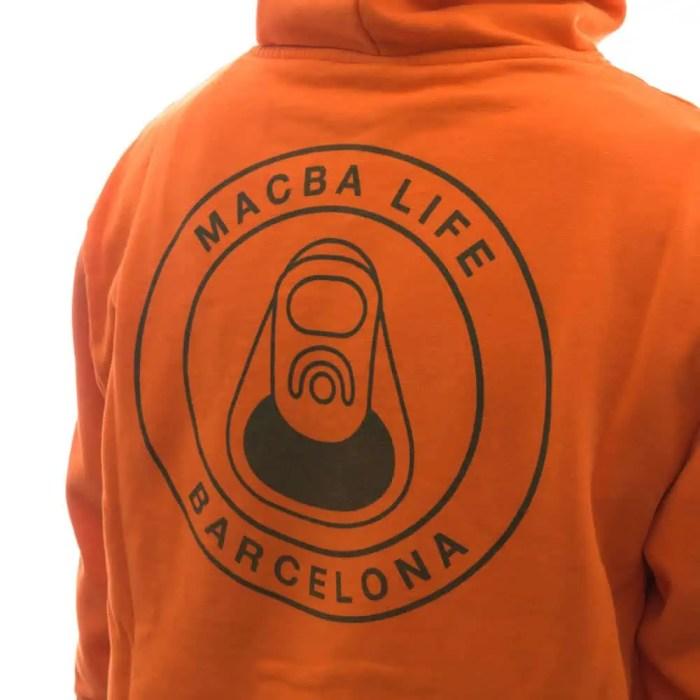 MACBA LIFE OG LOGO HOODIE ORANGE 4