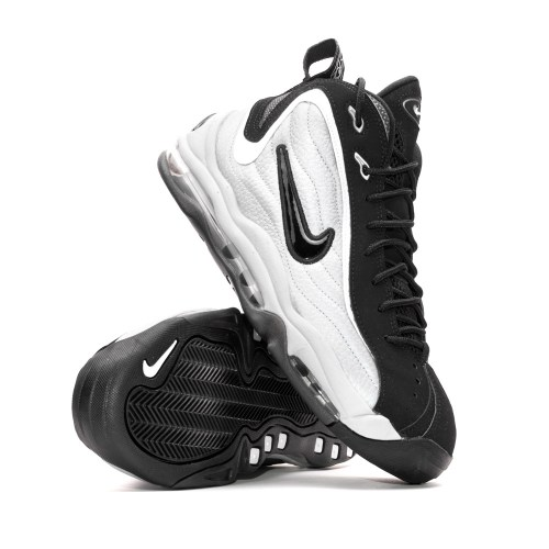 NIKE AIR TOTAL MAX UPTEMPO METALLIC SILVER BLACK WHITE 2