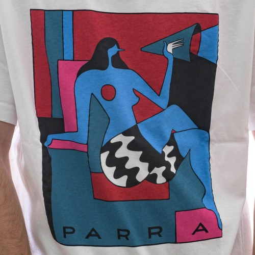 PARRA TOO LOUD TEE WHITE 2
