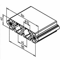 Linear Rail 19 for track roller ball bearing linear