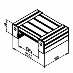 Ball bearing linear slide LW 32 made from t-slotted