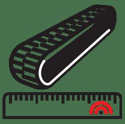 come misurare i cingoli in gomma