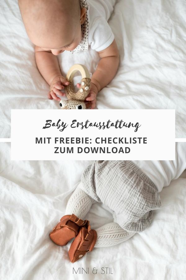 Baby Erstausstattung: Mit kostenloser Checkliste zum Download #erstausstattung #baby #schwangerschaft #geburt