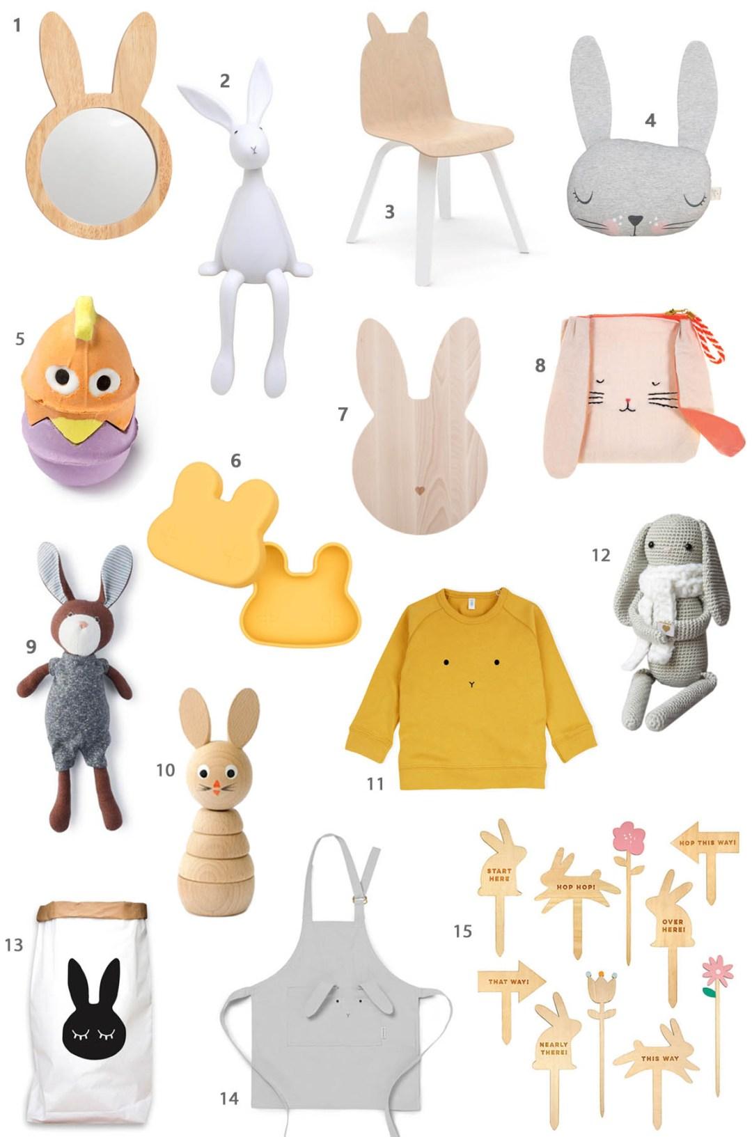 So viele Osterhasen! Das sind unsere Liebdinge zu Ostern für Kinder #ostern #osterhase #hase #accessoires
