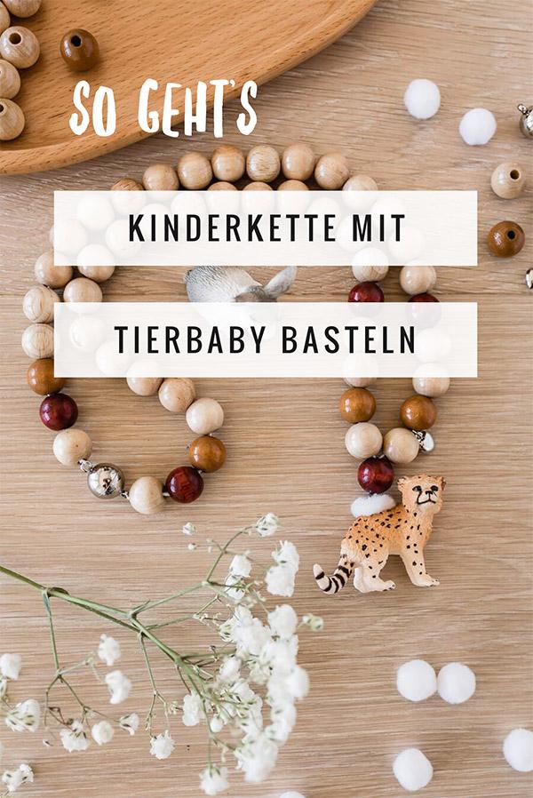 DIY: Kette für Kinder mit Schleichtieren basteln. Eine Schritt für Schritt Anleitung #basteln #bastelnmitkindern #diy