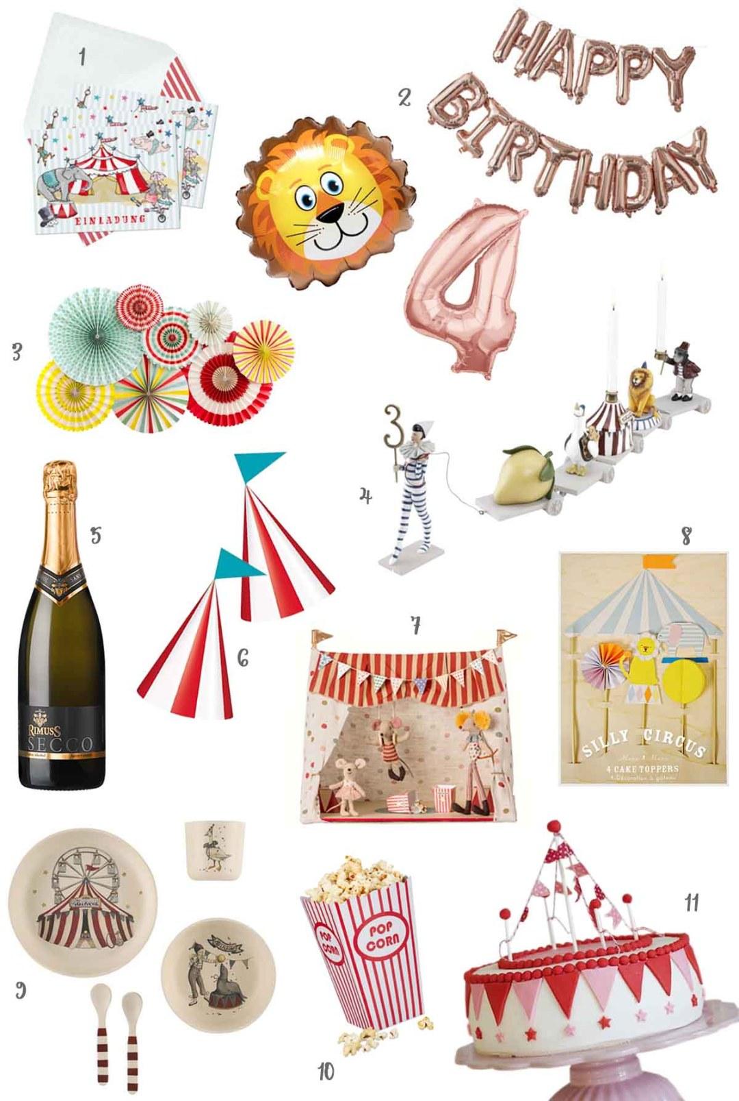 Happy Kindergeburtstag: Wir feiern eine Zirkusparty #kindergeburtstag #geburtstag #zirkusparty