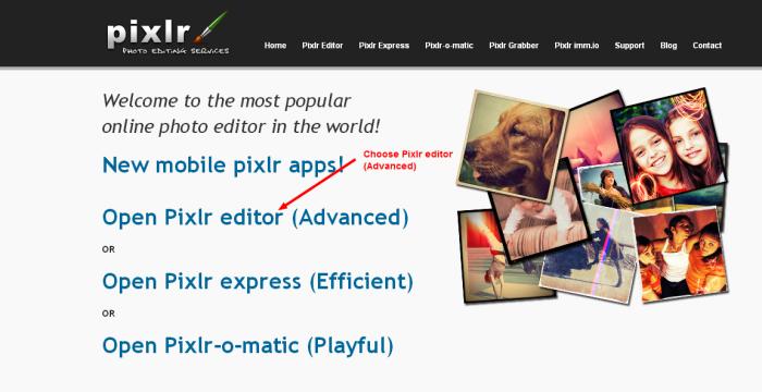 Photo editor online   Pixlr.com edit image