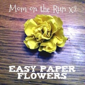 easy 3d paper flowers