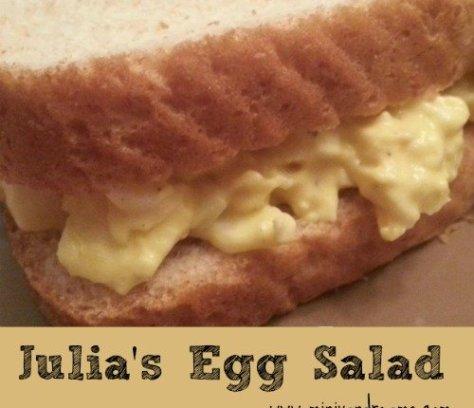 Julia's Egg Salad Recipe | Mini Van Dreams #recipes #easyrecipes