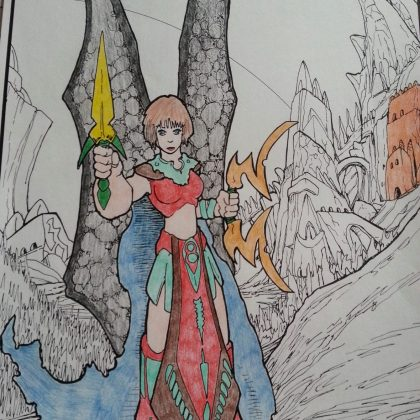 fantasy coloring posters