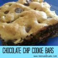 Chocolate Chip Cookie Bars via Mini Van Dreams #recipes #easyrecipes