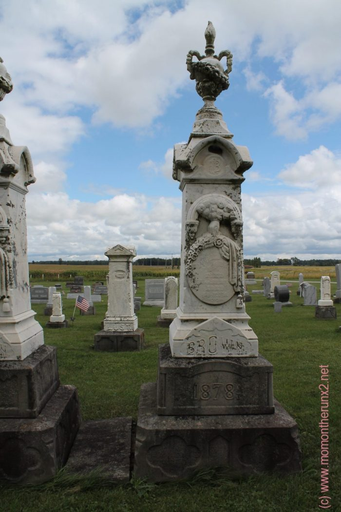 humor and a cemetery