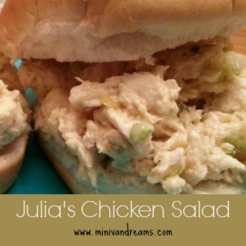 Julia's Chicken Salad via Mini Van Dreams