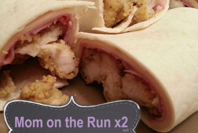 chicken cordon bleu wraps