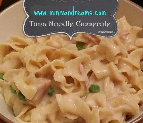Tuna Noodle Casserole via Mini Van Dreams