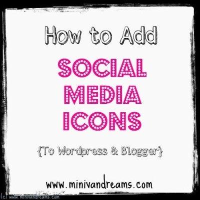 add social media icons