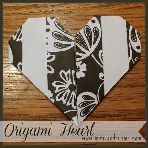 origami heart via mini van dreams.com
