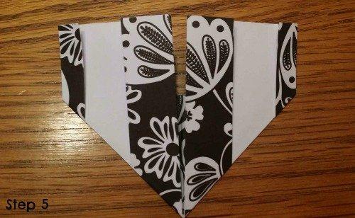 step 5 origami heart via mini van dreams