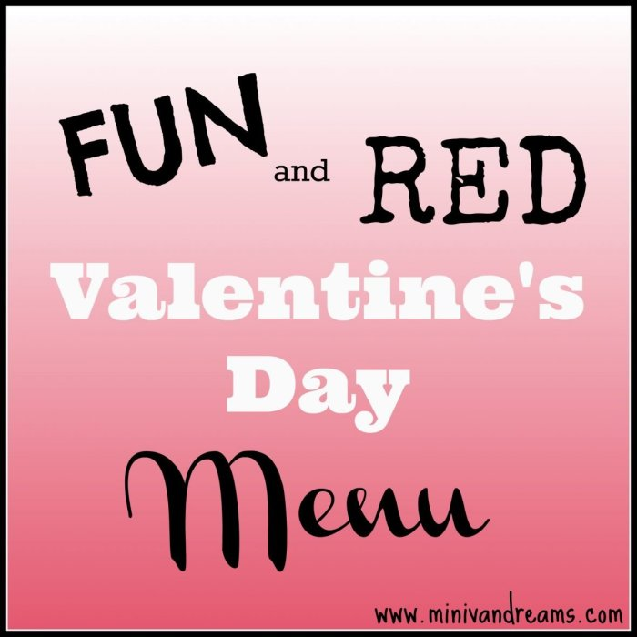 kid friendly valentines day menu at mini van dreams