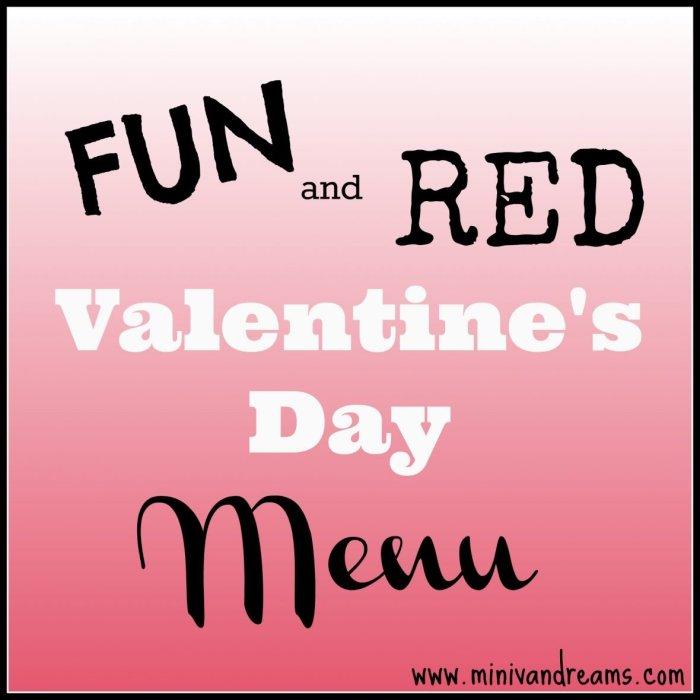 kid friendly valentines day menu at mini van dreams