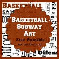 Basketball Subway Art Free Printable