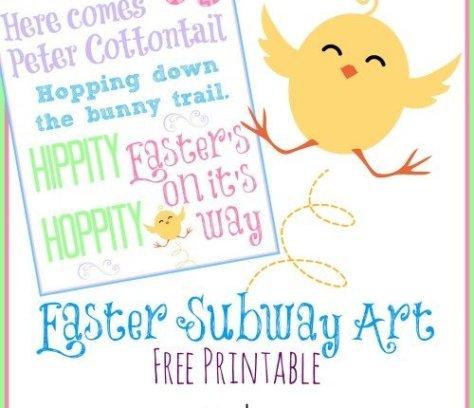Easter Subway Art Free Printable via Mini Van Dreams #easter #easterideas