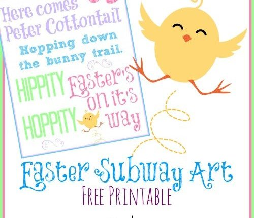 Easter Subway Art Free Printable via Mini Van Dreams #easter #easterideas