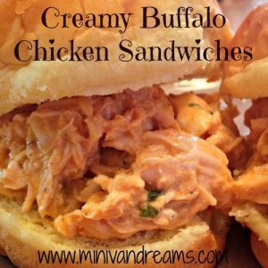 Creamy Buffalo Chicken Sandwiches & Tickle My Tastebuds #10 | Mini Van Dreams #recipes #easyrecipes #recipesforchicken #recipesforsandwiches
