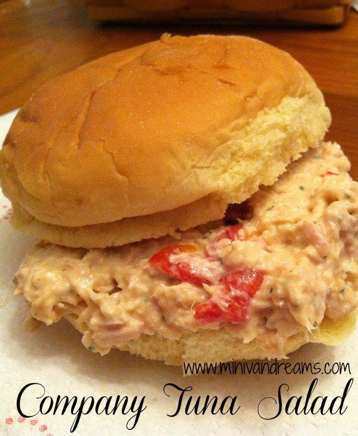Company Tuna Salad | Mini Van Dreams #easyrecipes #recipesforseafood #quickrecipes #recipesforsandwiches