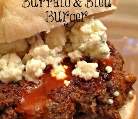 Buffalo and Bleu Burger | Mini Van Dreams #recipes #easyrecipes #recipesforsandwiches