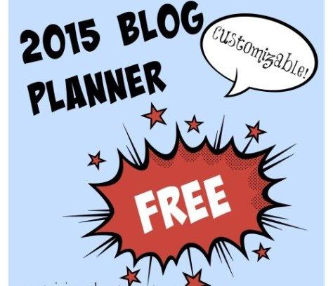 Free 2015 Blog Planner   Mini Van Dreams