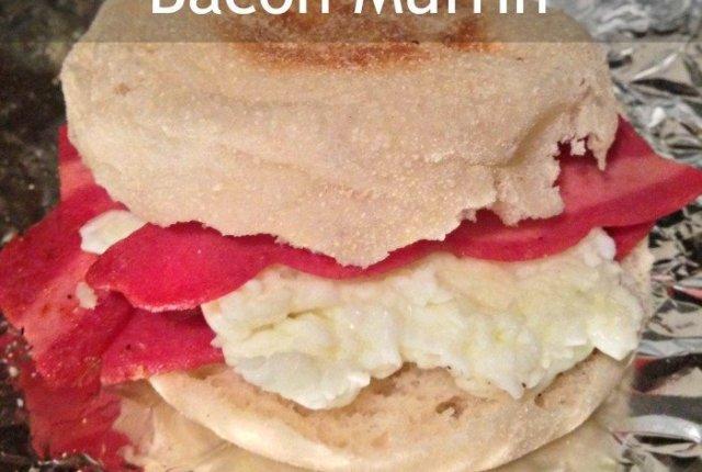 Egg White and Turkey Bacon Muffin | Mini Van Dreams