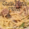 Steak Fajita Pasta & Tickle My Tastebuds #29 | Mini Van Dreams #recipes